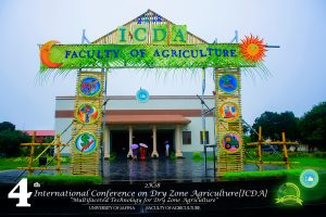 4th International Conference on Dry Zone Agriculture – 2018